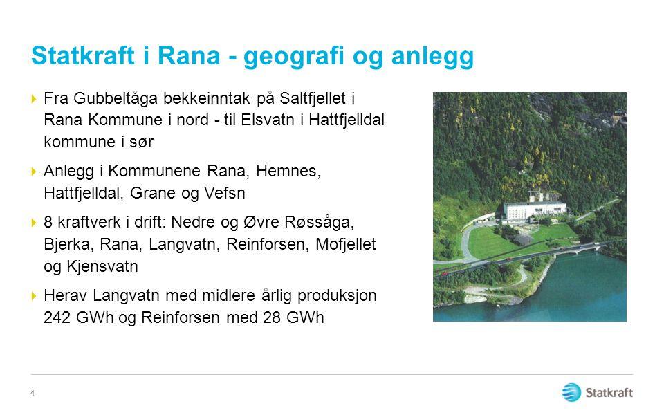 Statkraft i Rana - geografi og anlegg