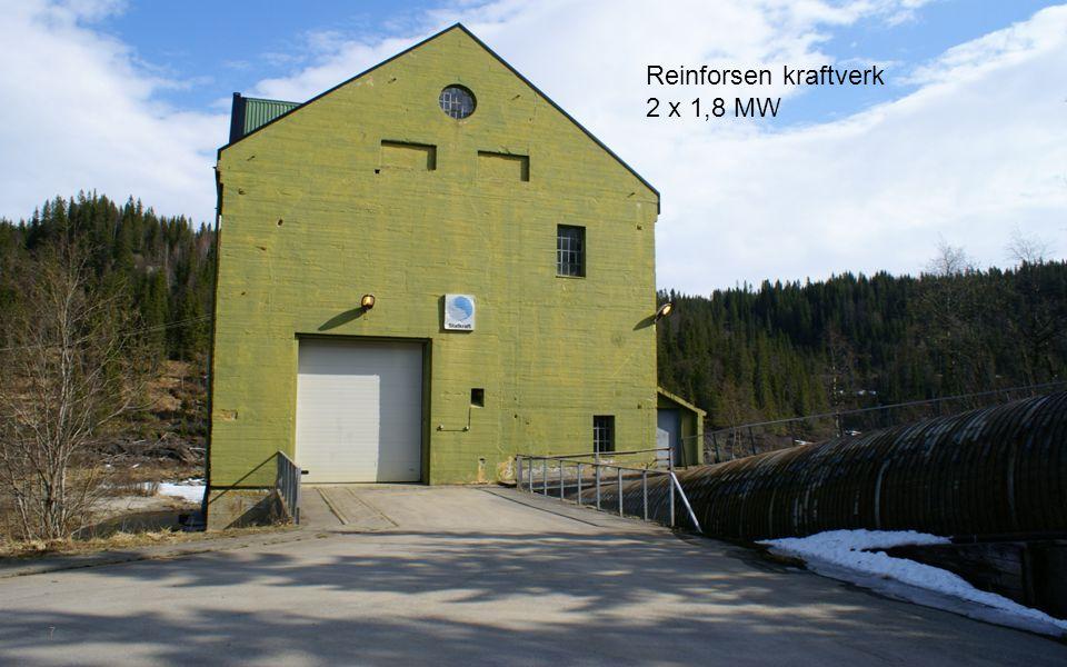 Reinforsen kraftverk 2 x 1,8 MW