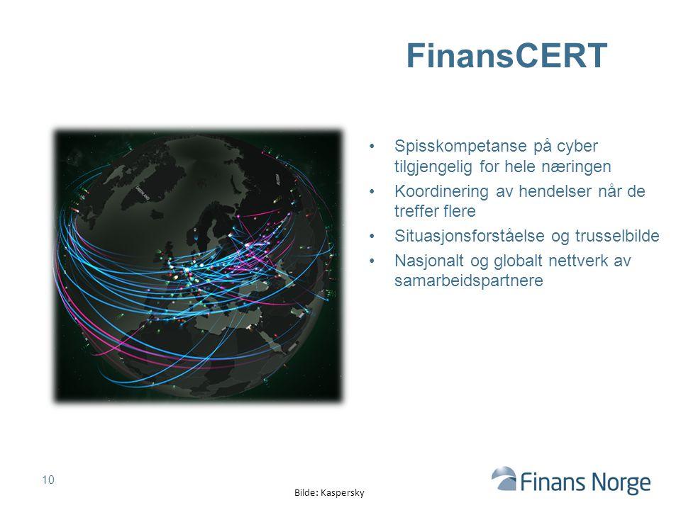FinansCERT Spisskompetanse på cyber tilgjengelig for hele næringen