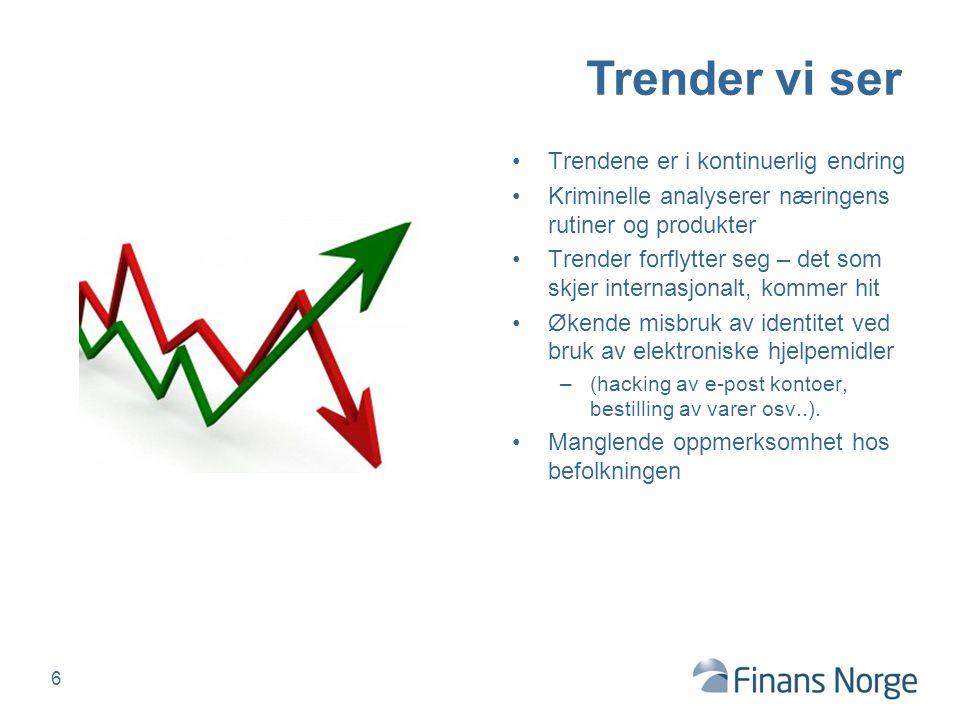 Trender vi ser Trendene er i kontinuerlig endring