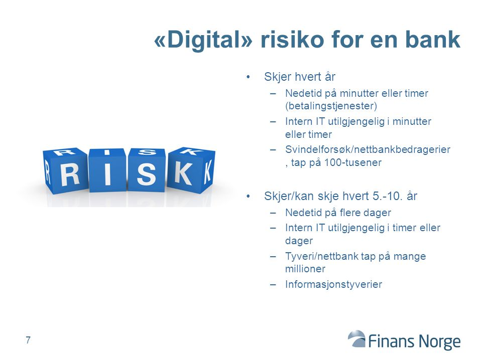 «Digital» risiko for en bank