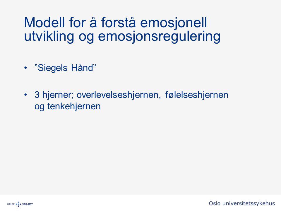 Modell for å forstå emosjonell utvikling og emosjonsregulering