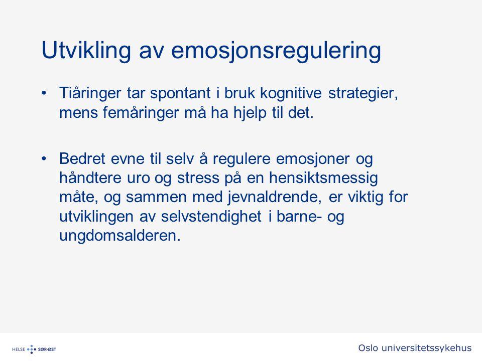 Utvikling av emosjonsregulering