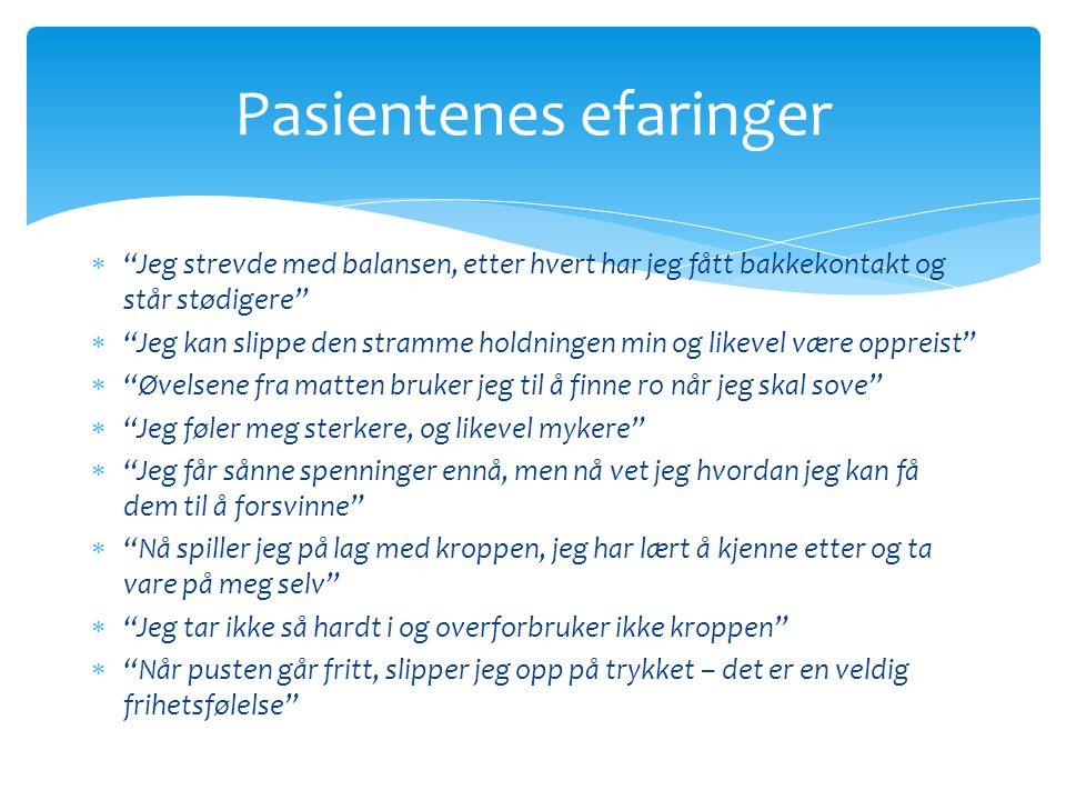 Pasientenes efaringer