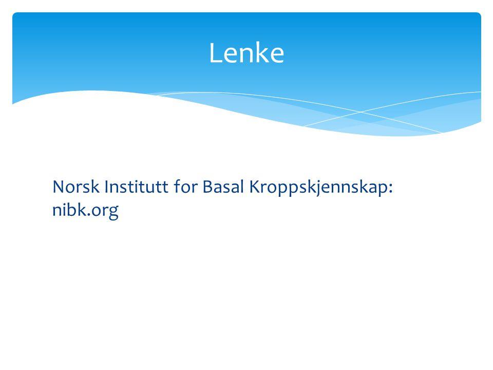 Lenke Norsk Institutt for Basal Kroppskjennskap: nibk.org