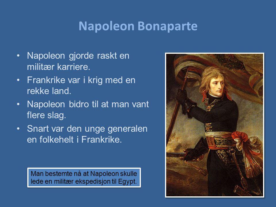 Napoleon Bonaparte Napoleon gjorde raskt en militær karriere.