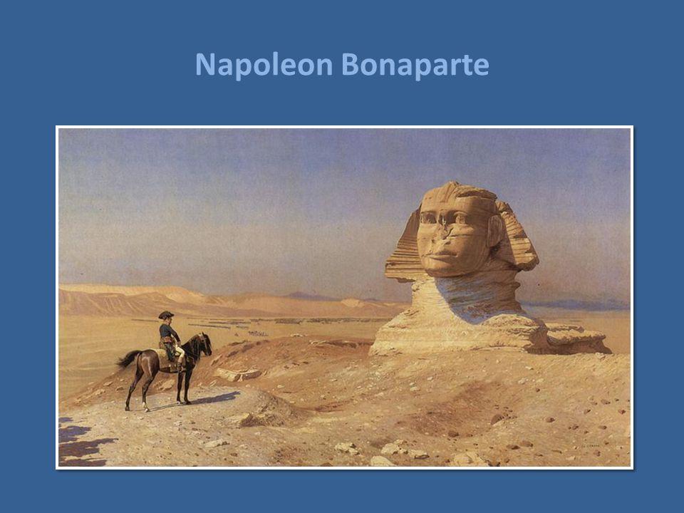 Napoleon Bonaparte Napoleon foran Sfinxen.