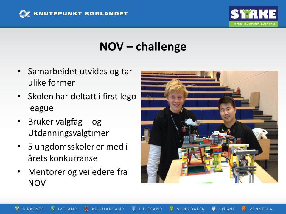 NOV – challenge Samarbeidet utvides og tar ulike former