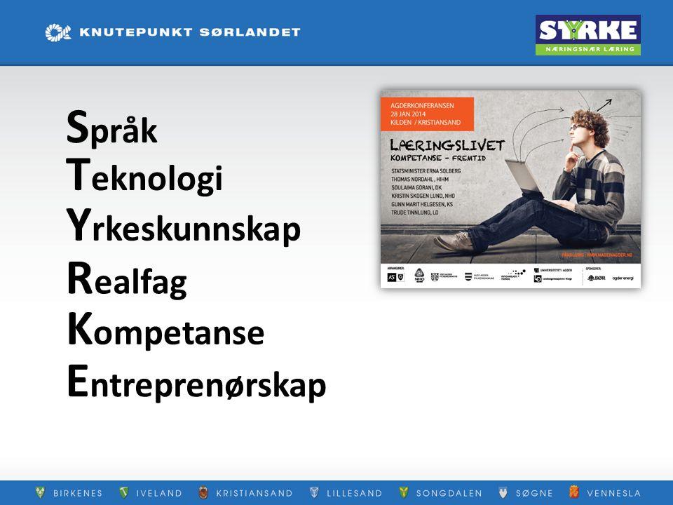 Språk Teknologi Yrkeskunnskap Realfag Kompetanse Entreprenørskap