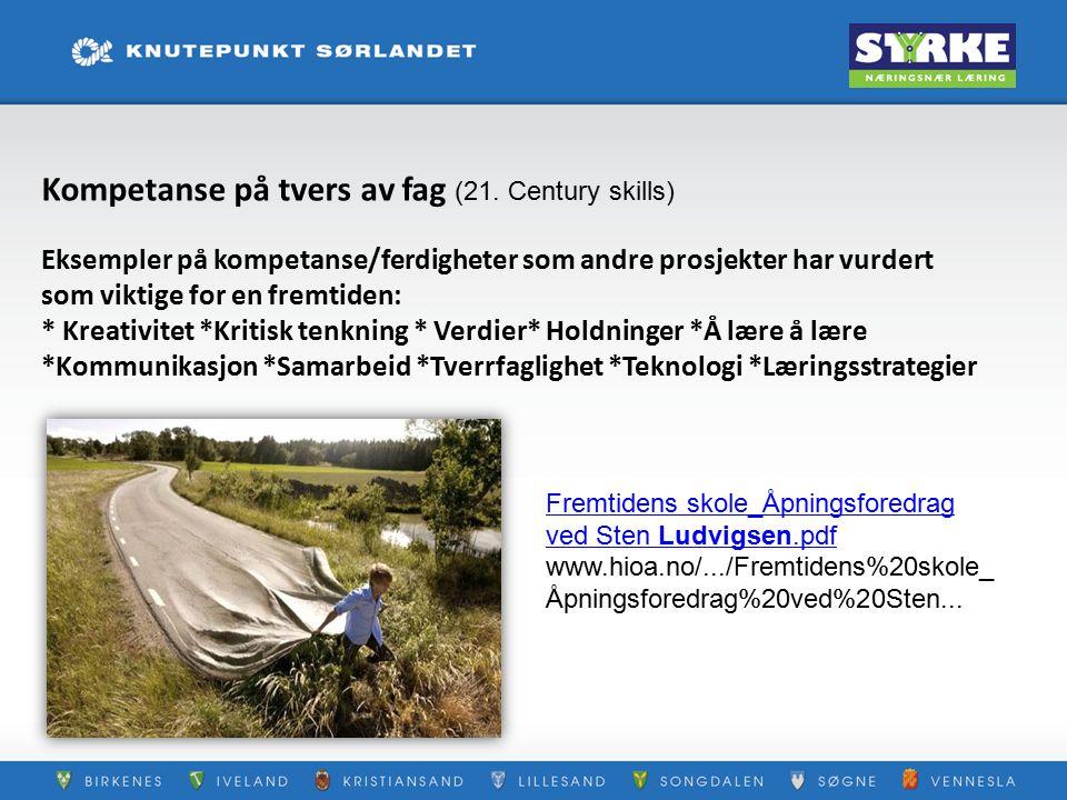 Kompetanse på tvers av fag (21. Century skills)