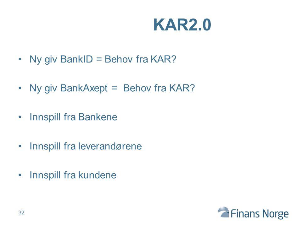 KAR2.0 Ny giv BankID = Behov fra KAR