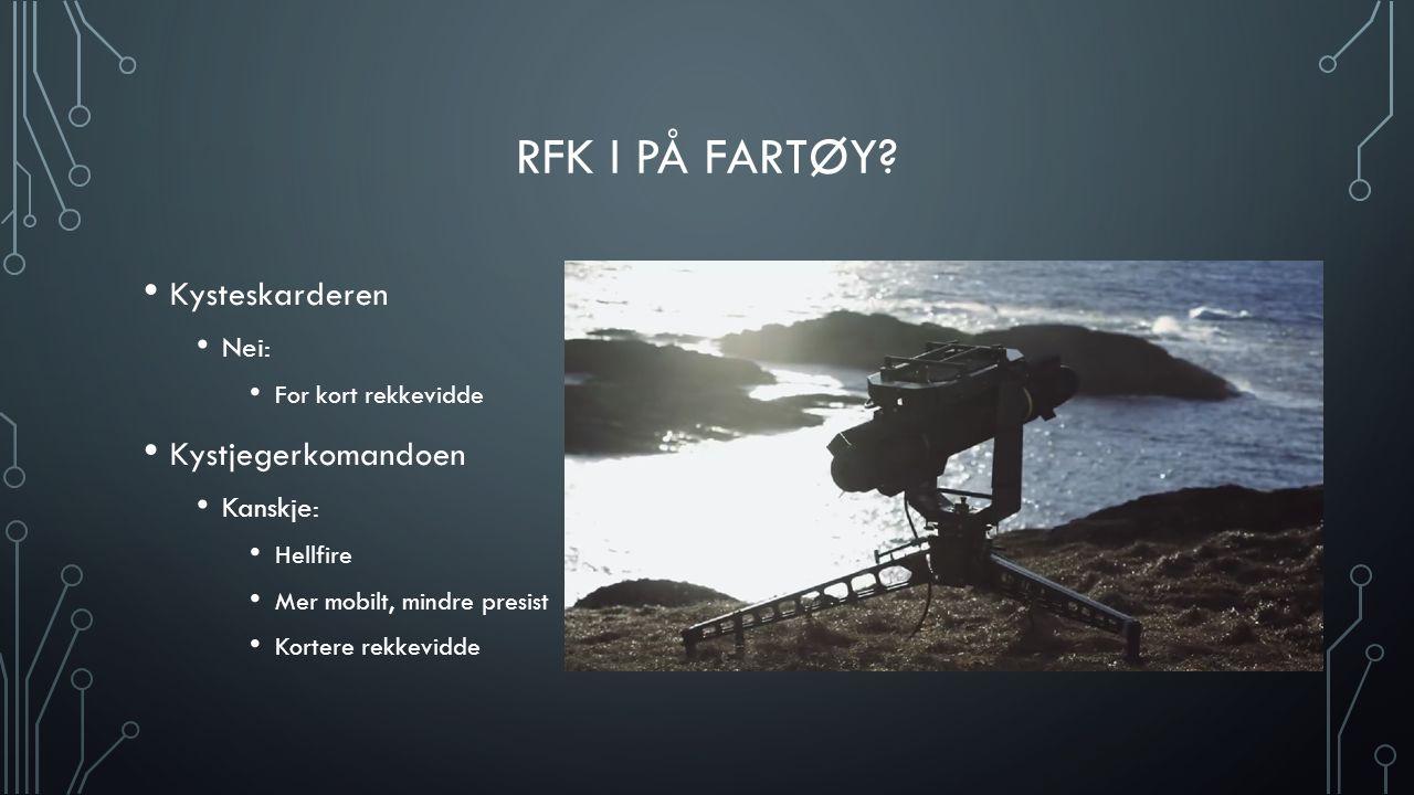 RFK i på fartøy Kysteskarderen Kystjegerkomandoen Nei: Kanskje: