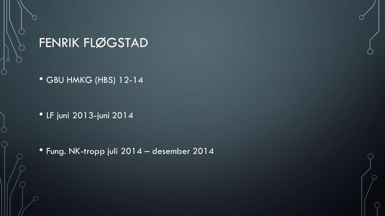 Fenrik Fløgstad GBU HMKG (HBS) 12-14 LF juni 2013-juni 2014