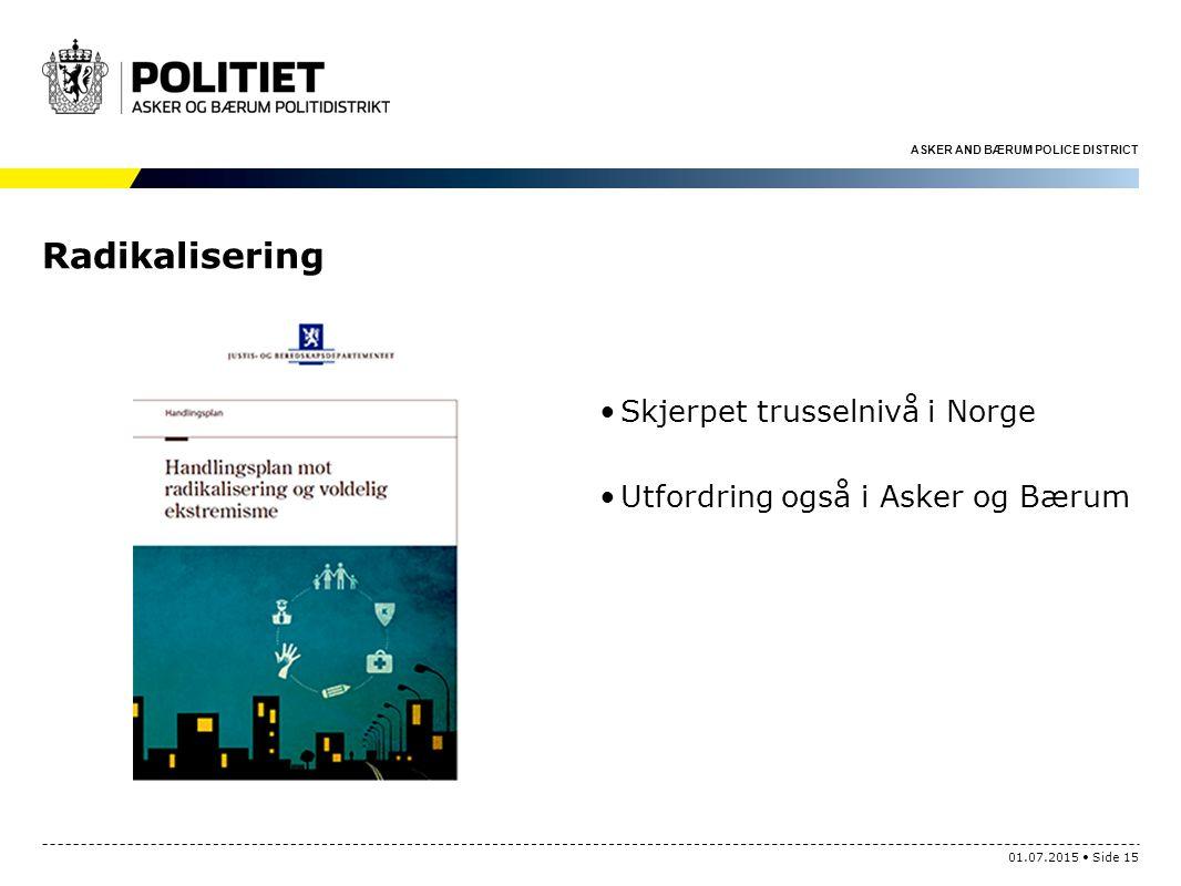 Radikalisering Skjerpet trusselnivå i Norge