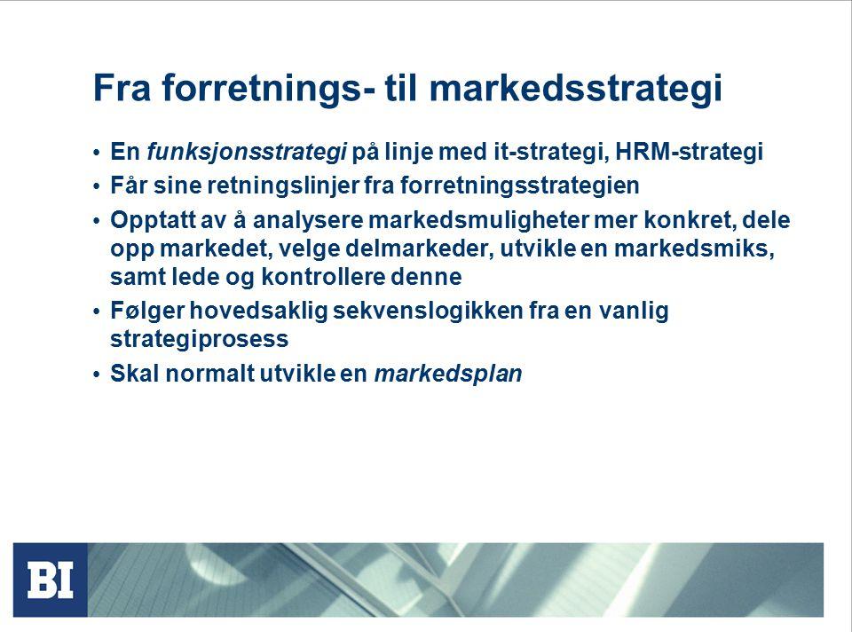 Fra forretnings- til markedsstrategi