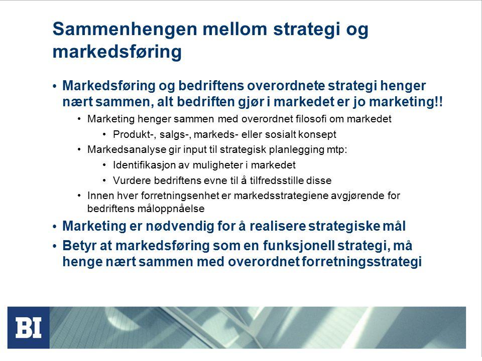 Sammenhengen mellom strategi og markedsføring