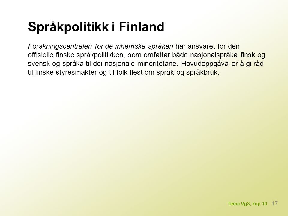 Språkpolitikk i Finland