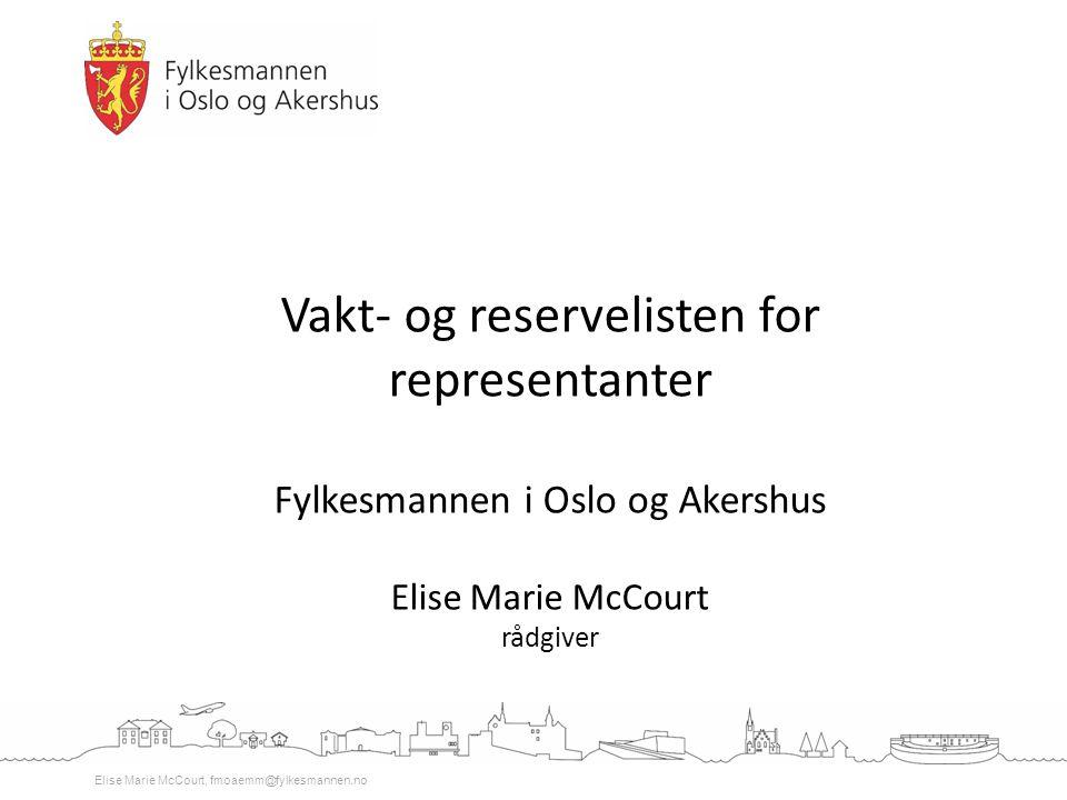 Vakt- og reservelisten for representanter