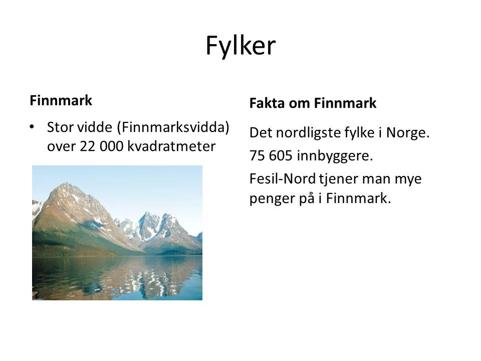 Fylker Finnmark Fakta om Finnmark