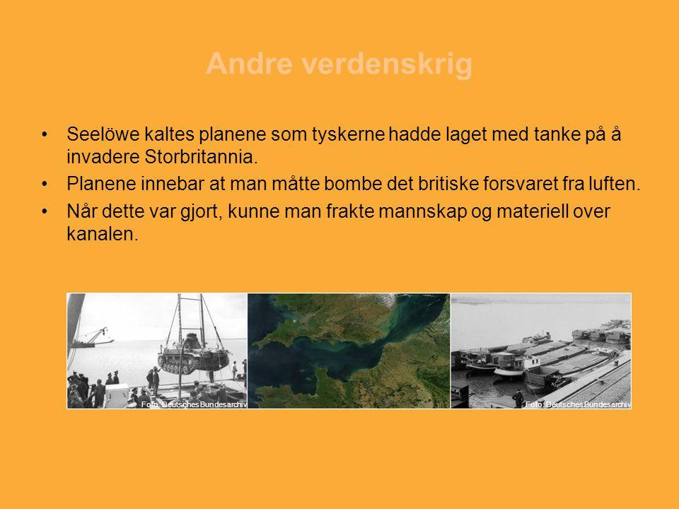 Andre verdenskrig Seelöwe kaltes planene som tyskerne hadde laget med tanke på å invadere Storbritannia.