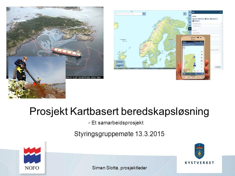 Prosjekt Kartbasert beredskapsløsning Styringsgruppemøte 13.3.2015