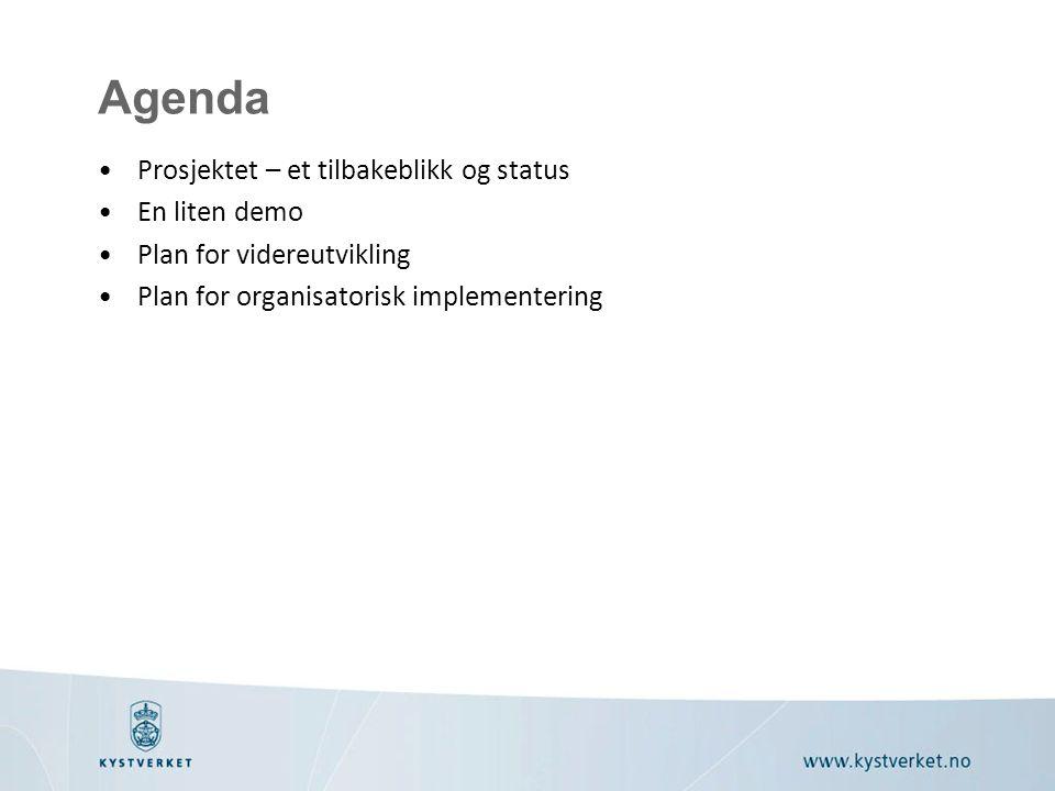 Agenda Prosjektet – et tilbakeblikk og status En liten demo