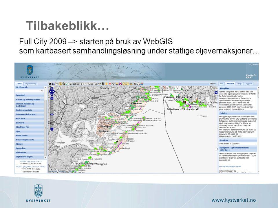Tilbakeblikk… Full City 2009 –> starten på bruk av WebGIS
