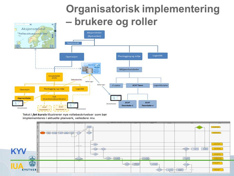 Organisatorisk implementering – brukere og roller