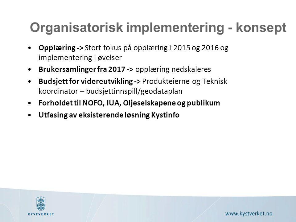 Organisatorisk implementering - konsept