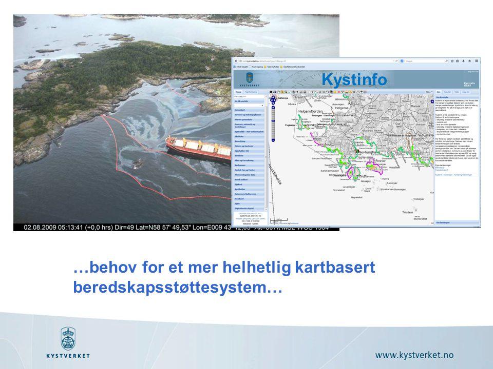 …behov for et mer helhetlig kartbasert beredskapsstøttesystem…