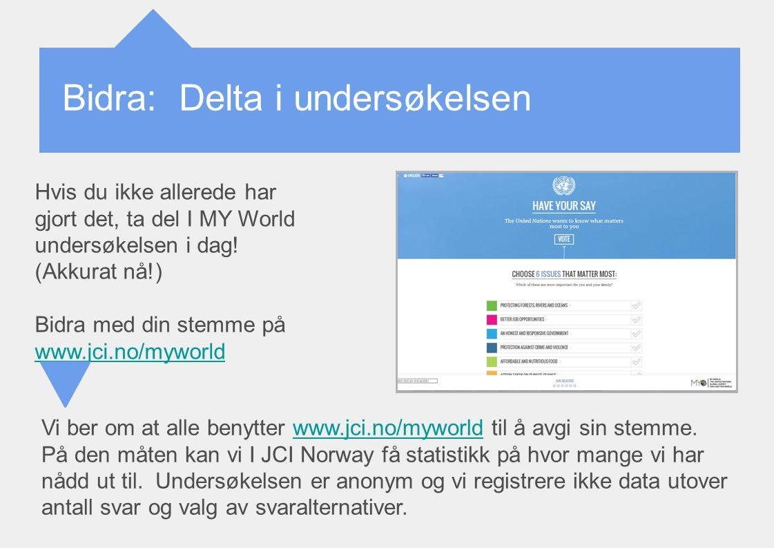 Bidra: Delta i undersøkelsen