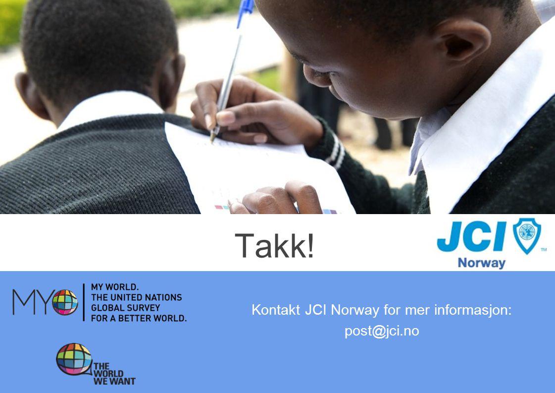 Kontakt JCI Norway for mer informasjon: post@jci.no