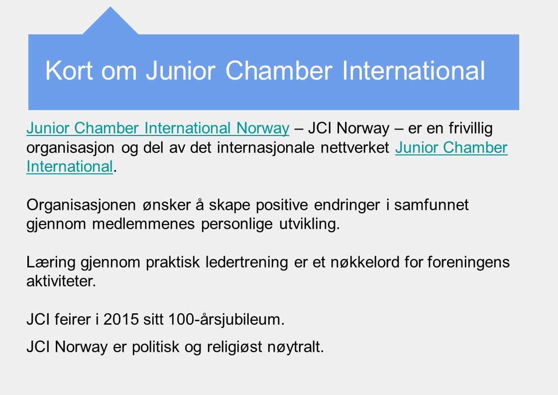 Kort om Junior Chamber International