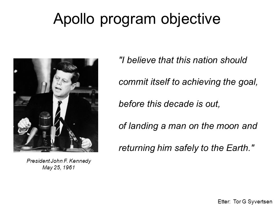 Apollo program objective