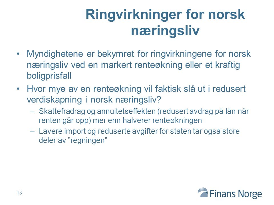 Ringvirkninger for norsk næringsliv