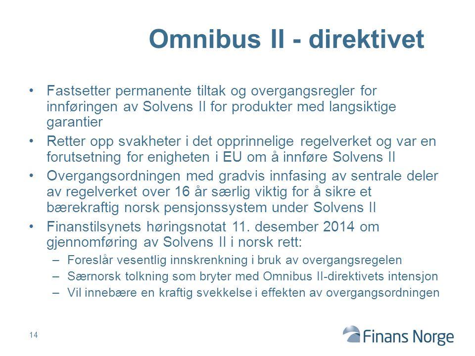 Omnibus II - direktivet