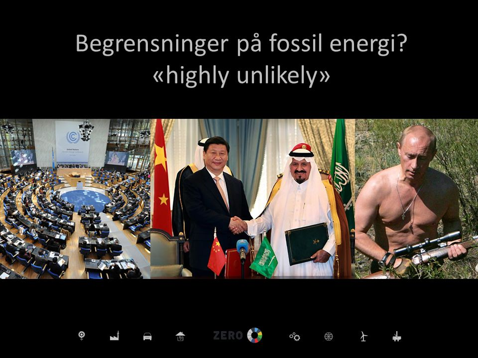 Begrensninger på fossil energi «highly unlikely»
