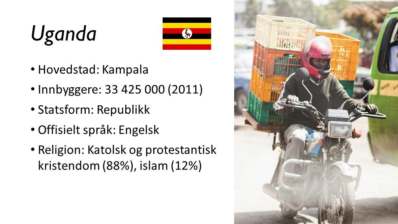 Uganda Hovedstad: Kampala Innbyggere: 33 425 000 (2011)