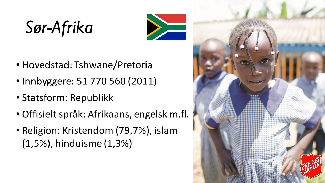 Sør-Afrika Hovedstad: Tshwane/Pretoria Innbyggere: 51 770 560 (2011)