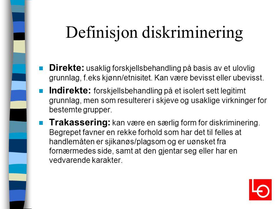 Definisjon diskriminering
