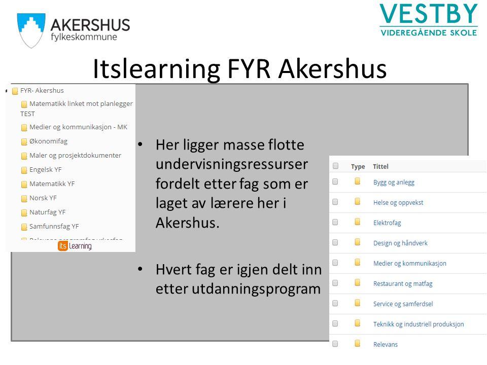 Itslearning FYR Akershus