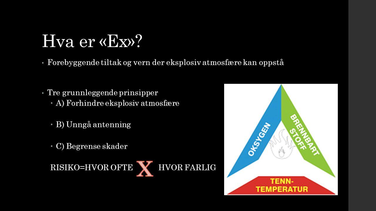 Hva er «Ex» Forebyggende tiltak og vern der eksplosiv atmosfære kan oppstå. Tre grunnleggende prinsipper.