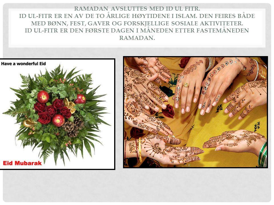 Ramadan avsluttes med Id ul Fitr