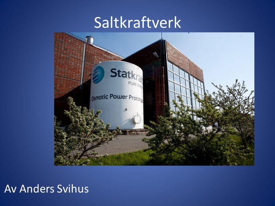 Saltkraftverk Av Anders Svihus