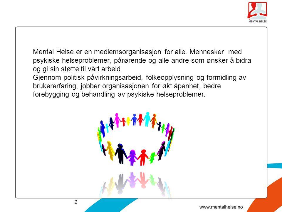 Mental Helse er en medlemsorganisasjon for alle