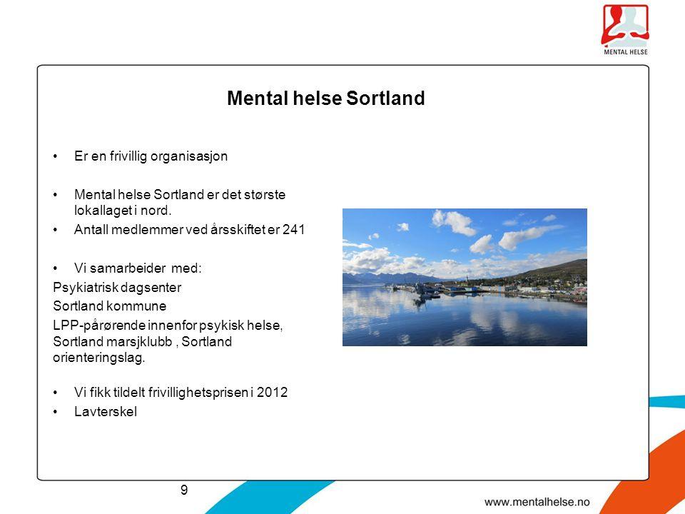 Mental helse Sortland Er en frivillig organisasjon