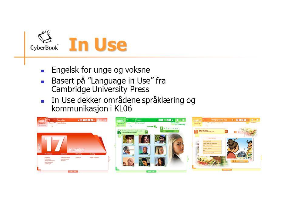 In Use Engelsk for unge og voksne