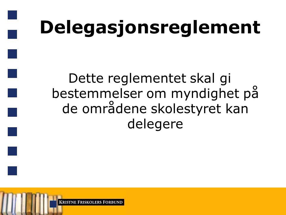 Delegasjonsreglement