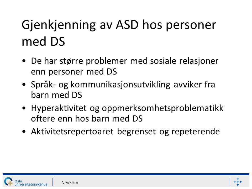 Gjenkjenning av ASD hos personer med DS