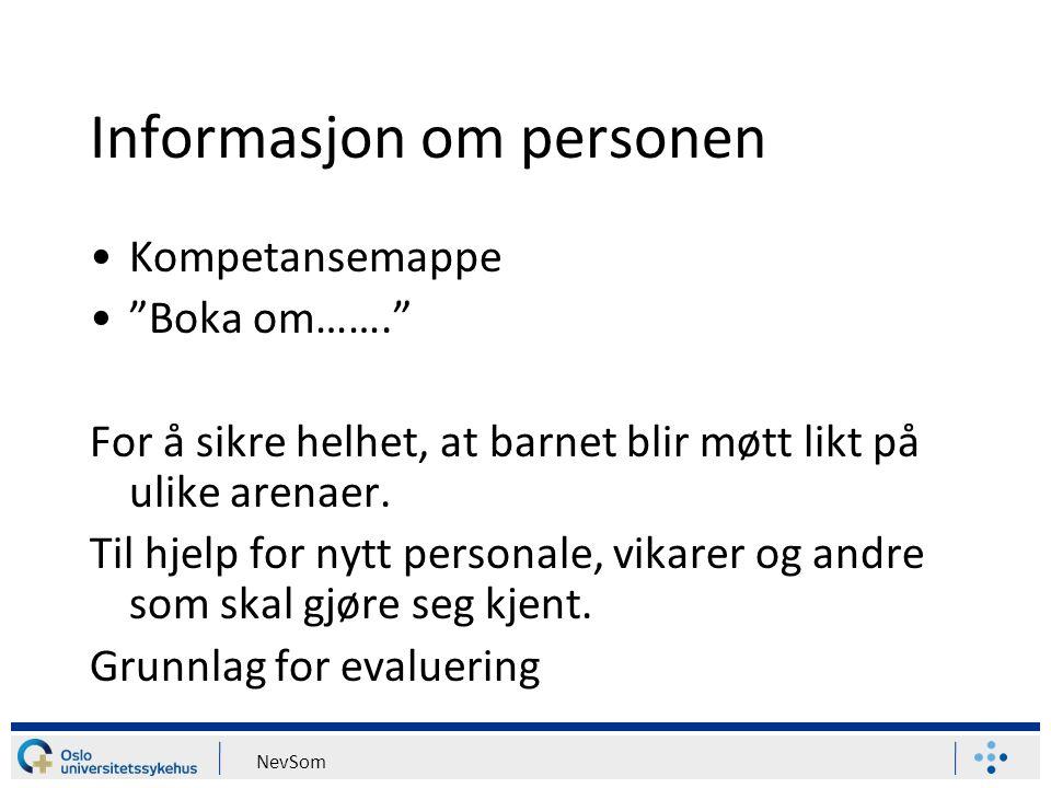Informasjon om personen